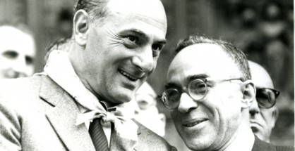 Enrico Mattei con Giorgio La Pira