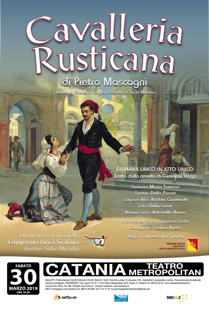 """Cavalleria Rusticana"" a Catania - 30 marzo 2019"