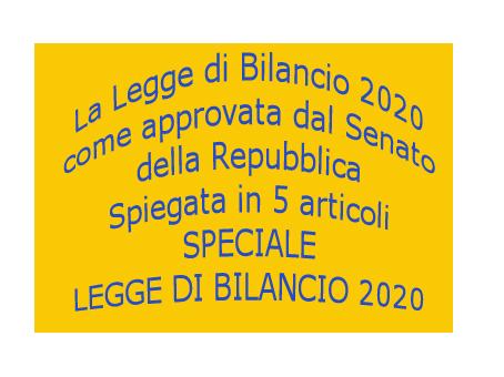 Speciale Legge di Bilancio 2020